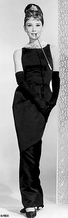 Black dress wore by Audrey Hepburn in Breakfast in Tiffany's
