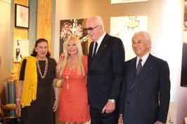 Niky Ribolzi, Monika Baccardi, Hubert de Givenchy and Adriano Ribolzi @CelinaLafuenteDeLavotha