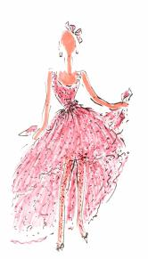 Rose sketch by Hubert de Givenchy @Ribolzi Gallery