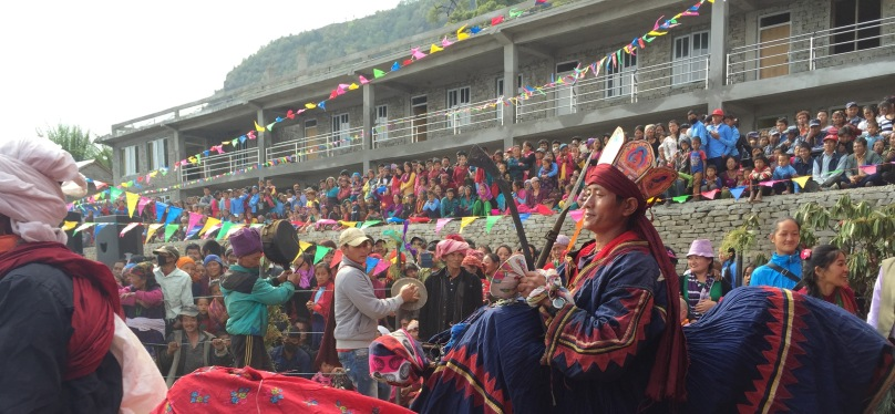 Shamans celebration of a High School inauguration a day before the earthquake @MAP