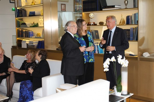 Adolfo Perez Esquivel, Beverly Keene and Zsolt Lavotha at YCM