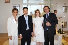 Celina Lafuente de Lavotha, Ribal Al-Assad, Claudia Abate-Debsat and her husband Pierre Debat, YCM, June 12, 2015