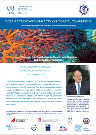 Cover page of Ocean Acidification IMpact on Coastal CSM Communities
