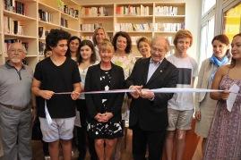 Inauguration of the Reading Corner %22Julio Cortaza%22 by Adolfo Perez Esquivel, June 11, 2015@ Manuel Vitali