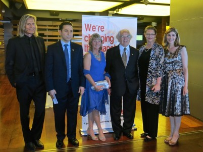 Ivan Suvanjieff, Ribal Al-Assad, Dawn Engle, Adolfo Perez Esquivel, Beverly Keene and Claudia Abate-Debat at a cocktail after the premiere of Rivers of Hope at Grimaldi Forum in Monaco, June 14, 2015 @CelinaLafuenteDeLavotha