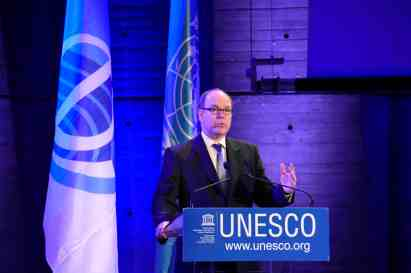 Prince Albert at UNESCO Journée mondiale Océan 2015BD @UNESCO