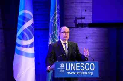 Prince Albert at UNESCO Journée mondiale Océan 2015BD @UNESCO