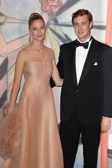 Beatrice Borromeo and Pierre Casiraghi at last year's Rose Ball in Monaco