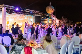 Guests dancing all night long on the terrace of the Oceanographic Museum of Monaco@MOM