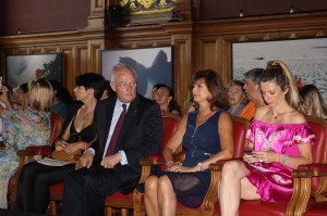 HE Michel Roger, Mireille Pietri and Marjorie Crovetto-Harroch MCFW2015 @CelinaLafuentedeLavotha