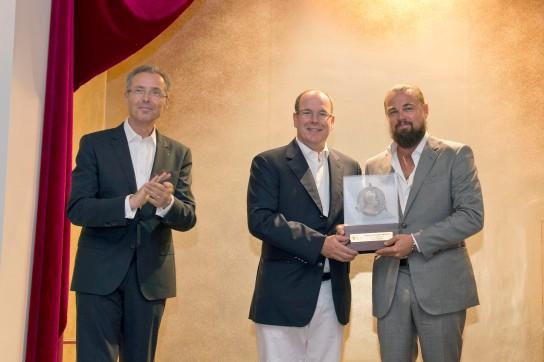 HRH Prince Albert with Leonardo DiCaprio (R) and Robert Calcagno (L) @M.Dagnino