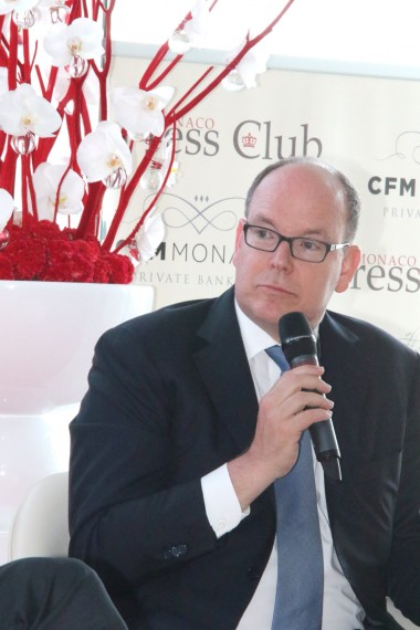HSH Prince Albert II of Monaco meeting the press @WSW