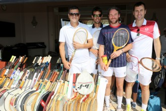 Members of the Monegasque Davis Cup team who participated in the charity tournament @Erika Tanaka