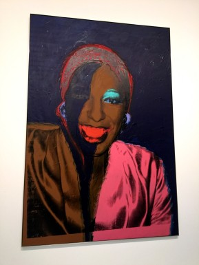 One of the portraits by Andy Warhol (1) at FLV @CelinaLafuenteDeLavotha2015