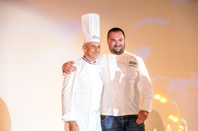 Philippe Joannès, Chef du Fairmont Monte Carlo and Russian Chef Vladimir Tikhomirov @MOM