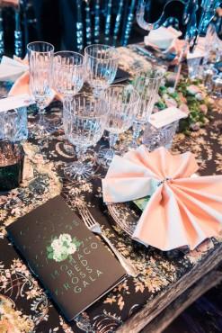 Place settings at the Honor Table at the Red Cross Ball 2015 @Eric MATHON, Palais Princier