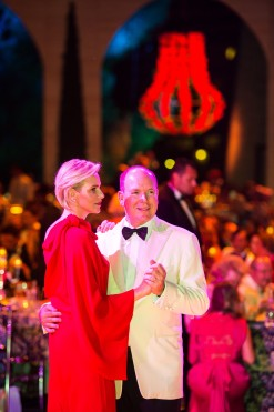 Prince Charlene and Prince Albert opened the Red Cross Ball 2015 @Eric MATHON, Palais Princier
