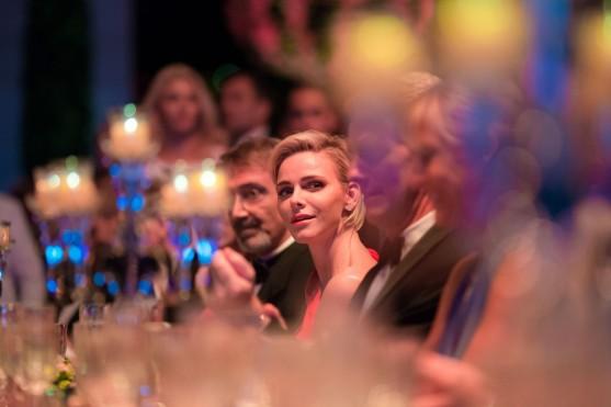 Princess Charlene at the Honor Table at the RCB 2015 @Frederic NEBINGER, Palais Princier
