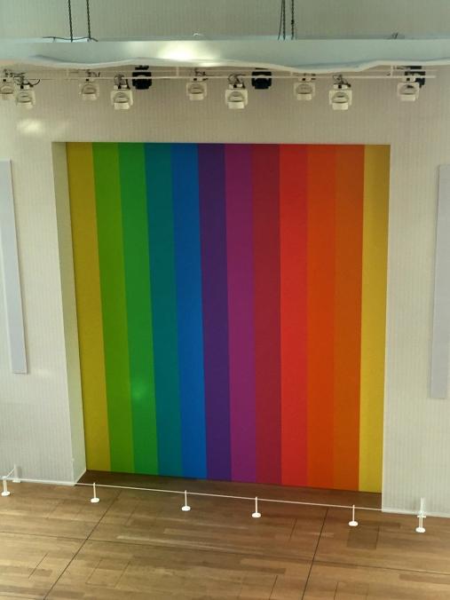 Spectrum VIII, 2014 by Ellsworth Kelly at Auditorium of FLV @CelinaLafuenteDeLavotha2015