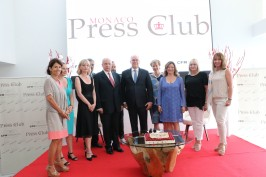 The Board of the Monaco Press Club with HSH Prince Albert II of Monaco @WSW