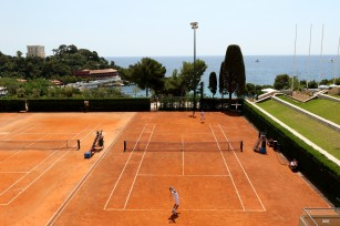 The clay courts of the magnificent and legendary Monte-Carlo Country Club during the tournament @Erika Tanaka