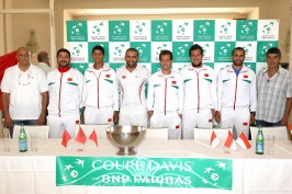 The Davis Cup team from Maroc at the Press Conference before the competition @MTF