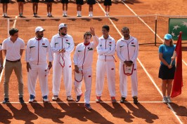 The Davis Cup team from Maroc @MTF