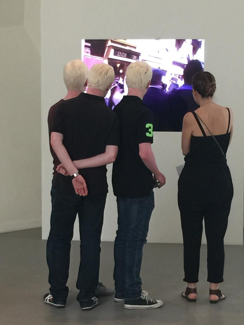 Three Albino young men at the FLV @CelinaLafuenteDeLavotha2015