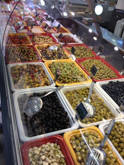 All kind of olives and other delicacies at the market@Celina