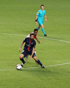 Anthony Martial (ASM)and Thiago Motta (PSG) @CelinaLafuenteDeLavotha