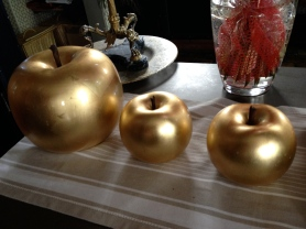 Golden apples at Michel Trama @CelinaLafuenteDeLavotha