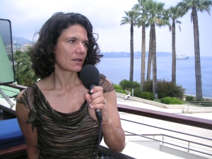 Julia Cake during an interview in Monaco
