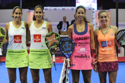Alayeto twins (left) with Marta Marrero and Marta Ortega @MC International Sports