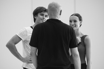 Artem Ovcharenko, and Anna Tikhomirova with Jean-Christophe Maillot Photo credits @ Alice Blangero