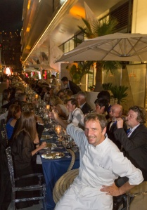 Long table along the Quay for a Giant Bouillabaisse with Chef Christian Pluvial @Stefano Gattini 12167 MCW2015