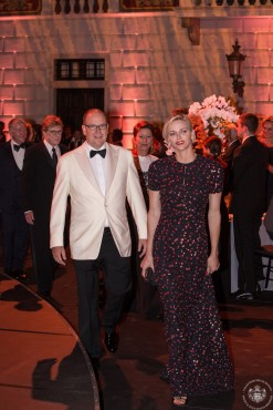 Prince Albert and Princess Charlene arriving to the dinner @Eric Mathon_1350