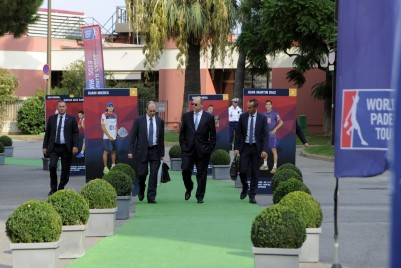 Prince Albert arriving to the MC World Paddle Masters on Thursday @MC Inernational Sports
