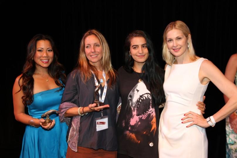 Angela Sun, Pam Longobardi, Madison Stewart, Kelly Rutherford AT BLUE 2014 @BLUE photo archives