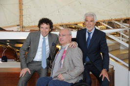 Art collector Sergio Gasparin with Gianni Ottaviani and Mr. Pastorello @ArtSGK55 [1]