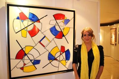 Carole Pavio by her artwork Simple Complexity @CelinaLafuenteDeLavotha