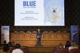 Debbie Kinder presenting at the Blue Ocean Film Festival 2013 Monaco @BLUE Archives