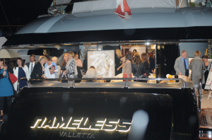 Exhibition opening on board yacht Nameless @ArtSGK55
