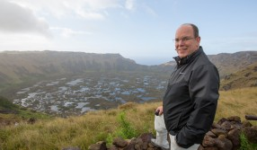 HSH Prince Albert on his visit to Easter Island, October 2015 @ MOM