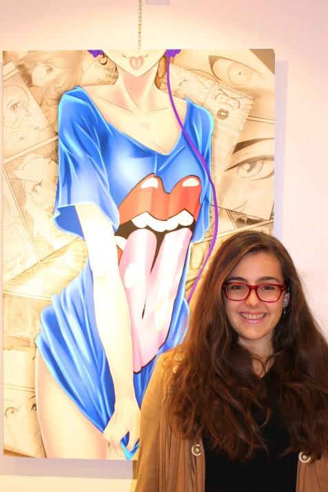 Marilou by her artwork Life is a Joke, winner of Promising Prize @CelinaLafuenteDeLavotha