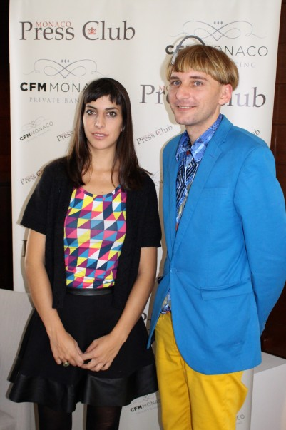 Moon Ribas and Neil Harbisson @CelinaLafuenteDeLavotha