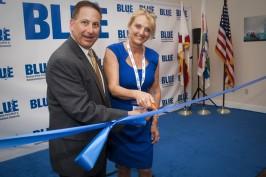 Rick Kriseman mayor of St. Petersburg Florida and Debbie Kinder co-founder of BLUE @Blue Archives