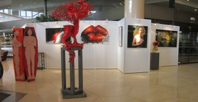 View of one of the GemlucArt exhibition galleries @Yvon Kergal