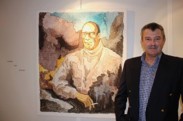 Yvon Kergal by his artwork Gibbez @CelinaLafuenteDeLavotha