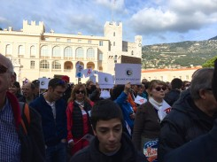 All gathered at the Palace Square in Monaco for the March for the Climate on Sunday, November 29, 2015 @CelinaLafuenteDeLavotha