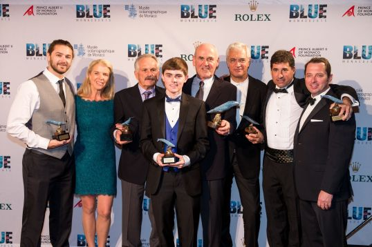 Award Winners: Chris Cilfone, Katya Shirokow and Rick Rosenthal, Preston Buchanan, Dieter Paulman and Louie Sihoyos, David Brown and Denis Jensen @BLUE2015Monaco